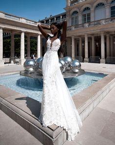 Robe de mariée de luxe de la créatrice  parisienne Veronika Jeanvie #robe #robemariée #robedemariée #robemariée2018 #paris #parisienne #dentelle
