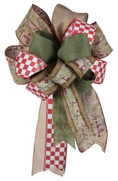 Christmas bow with our RG ribbons.  This bow also includes 5 of our RG ribbons. If your into Christmas bows this combination is for you. #rgribbon #christmasribbon #bow #craigbachman