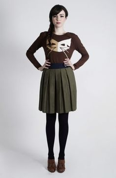 dear creatures cat sweater coming to Apotheca Salon& Boutique fall 2012