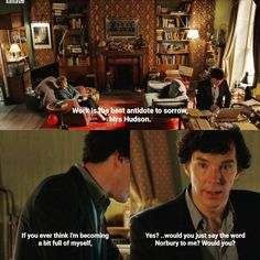 """Just that. I'd be very grateful.""Sherlock S04 E01 ""The Six Thatchers"". Season 4."