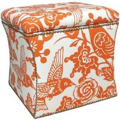 This storage ottoman appeals to your inner clean freak, helping keep rooms neat and tidy with a sleek upholstered design and convenient inner storage area. Embellished all around with chic nailheads, this hand-upholstered piece is sleek, polished and designed with purpose.