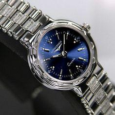 Longines Conquest Ladies Quartz Blue Dial Luxury Antique Used watches Swiss Made