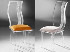 Luxury Red Chair With Acrylic Legs From Muniz Plastics In