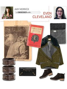 """""""Above all, blogger Stephanie Madewell of Even Cleveland is simply a beautiful storyteller. She culls togehther vintage photographs and film clips, literary musings, and what she calls """"imaginary outfits"""" - collages of clothing styled around a event, such as a night at the opera or beach combing in Maine. The blog is a grab bag of goodness."""" -Amy Merrick of Emerson Merrick   - HouseBeautiful.com"""