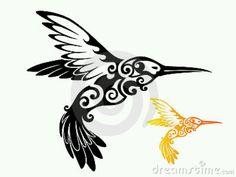 Tribal hummingbird
