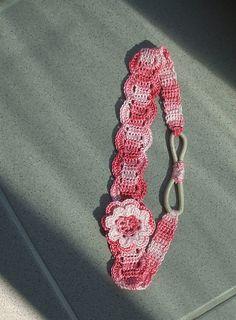 Ravelry: Thread headband pattern by Kinga Erdem Thread Crochet, Love Crochet, Crochet Crafts, Crochet Projects, Knit Crochet, Crochet Flowers, Crochet Designs, Crochet Patterns, Crochet Hair Accessories