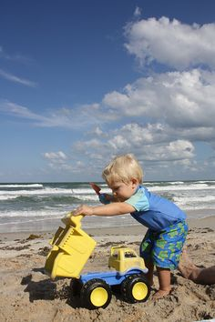 Beach Days with idea suggestions for parents If you have ever traveled with an opinionated toddler – you would know that keeping your home routines while away from home keeps everything a little saner.  It does help if you bring a dump truck along too! We have been doing tot-school on the beach, focusing on …