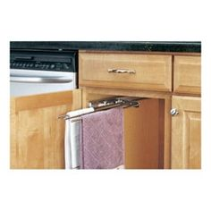 Page 2 - Under Sink Cabinet Organizers - Under Sink Storage & Pull-Out Shelves in Chrome and Metal Wire at Cabinet Accessories Unlimited Diy Organisation, Kitchen Organization, Organizing Tips, Kitchen Storage, Armoire, Kitchen Island On Wheels, Pull Out Shelves, Pot Hanger, Rev A Shelf