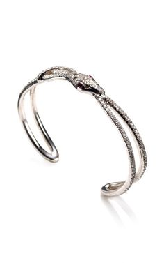 Snake Bracelet with Ruby Eyes