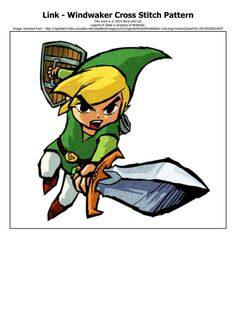 Legend of Zelda Windwaker Link Cross Stitch by DarylandCatStitches