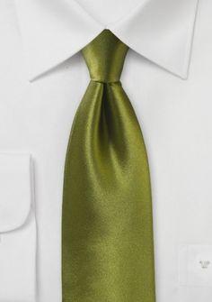 Kravatte Satinglanz oliv