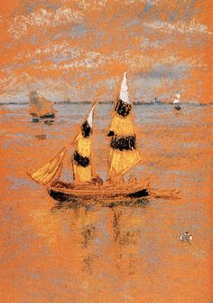 """""""Fishing Boats at Venice"""" by James A. McNeill Whistler"""