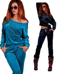 Velour tracksuit for Women #veloursuit #womantracksuit