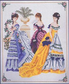 "At The Ball Cross Stitch Kit (Victorian Ladies) - 14"" x 17"" - DMC K4494 DMC http://www.amazon.co.uk/dp/B00GZL4MK2/ref=cm_sw_r_pi_dp_.Agmub1TPW2Q3"