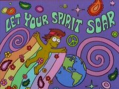 ☮ American Hippie Bohéme Boho Psychedelic Art ☮ The Simpsons Psychedelic Art, Simpson Tumblr, Yoga Studio Design, Hippie Art, Hippie Life, Retro Aesthetic, The Simpsons, Wall Collage, Aesthetic Wallpapers