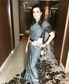 Mini Mathur # Raw mango # saree # evergreen# Indian fashion