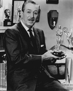 Walt Disney and one of his many Oscars