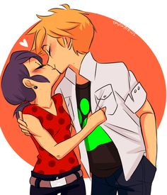 miraculous ladybug kiss - Google Search