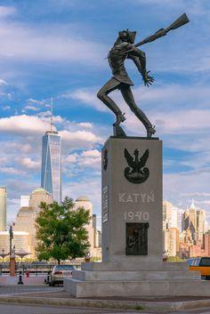 Katyn Massacre memorial monument, in Yersey City, New Jersey, US / by Jan Gorzynik