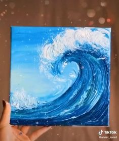 Canvas Painting Tutorials, Simple Canvas Paintings, Acrylic Painting Canvas, Simple Canvas Art, Painting Techniques Canvas, Beginner Painting On Canvas, Sunset Painting Easy, Ocean Wave Painting, Shadow Painting