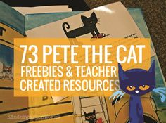 Pete the Cat is the go-to book for many classrooms. Here are free Pete the Cat activities, videos and books - perfect for kindergarten and first grade. Library Activities, Preschool Activities, Preschool Literacy, Speech Activities, Early Literacy, Teacher Created Resources, Teaching Resources, Teaching Ideas, Pete The Cats