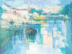 "Jose PALMEIRO MARTINEZ- ""Paisaje, River Landscape 1960""   Madrid 1903-1984"