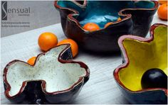 Sensual - Author ceramics workshop from Gdansk - Set of Concha plateaus - Zestaw pater Koncha