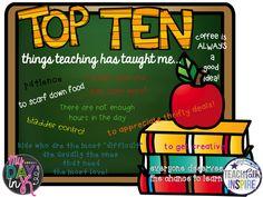 Tell All Tuesday-Teacher's Top 10 List!