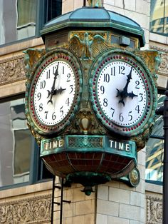 Old Chicago Clock from the Old Marshall Field Building, now Macy's Dept. store