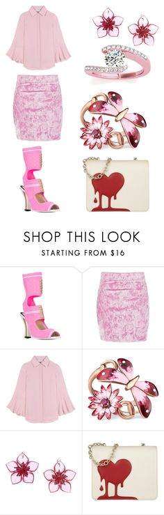 """""""Bleeding heart #2"""" by aqualyra ❤ liked on Polyvore featuring Fendi, Boohoo, Valentino, Gucci, Dsquared2, Love Moschino and Allurez"""