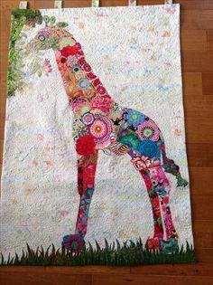 Giraffe quilt - Fiberworks - Laura Heine pattern