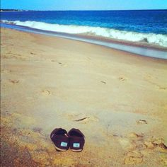 Toms on a beach in Rhode Island <3