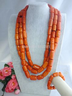 Find More Jewelry Sets Information about Nigerian Bride with Pink coral beads! So rich and lush!! Nigerian wedding inspiration! 70CM Women Jewelry Z 2386,High Quality Jewelry Sets from Changzhou Tiancai Jewelry Co., Ltd. on Aliexpress.com