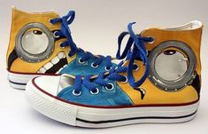 Minion Converse Converse Shoes-Hand Painted on High Top Converse
