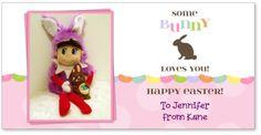 Elf on the Shelf sends Easter greetings :)