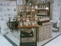 another Rendezvous candle display. Candles For Sale, Craft Show Displays, Living Styles, Store Fronts, Soy Candles, Sweet Home, Table Settings, Gifts, Trading Post