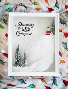 DIY Holiday Shadow Box #DiyChristmasDecorations #Christmas #DiyChristmas #DiyChristmasGifts