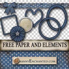 Free Denim Stars Digi Scrapbook Kit ♥♥♥Join 2,360 people. Follow our Free Digital Scrapbook Board. New Freebies every day.♥♥♥