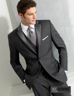 Buy Dark Gray costum made tuxedos for men groom suit mens suits with pants wedding suits Business suits for men foaml dress terno . Slim Fit Tuxedo, Tuxedo Suit, Tuxedo For Men, Tuxedo Jacket, Terno Slim, Costume Gris, Vest And Tie, Groom And Groomsmen, Groom Suits