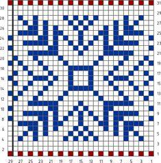 Knitting pattern chart Norwegian Jacquard Pattern