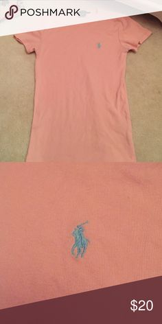Ralph Lauren women's soft t-shirt Light pink stretchy, soft tshirt with light blue logo! Material is 100% cotton! Ralph Lauren Tops Tees - Short Sleeve