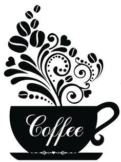 Coffee Cup Art, Cricut Tutorials, Coffee Signs, I Love Coffee, Cricut Creations, Vinyl Crafts, Kitchen Art, Silhouette Design, Cricut Design