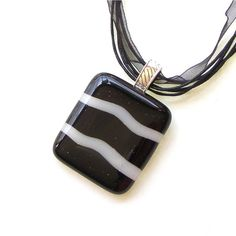Fused Glass Jewelry  Fused Glass Pendant by GreenhouseGlassworks, $20.00