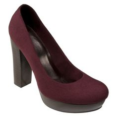 love the chunky heel! Chunky Heel Pumps, High Heel Pumps, Pumps Heels, Purple Pumps, Burgundy Heels, Womens Clearance, Love To Shop, 2 Inch Heels, Shoe Closet