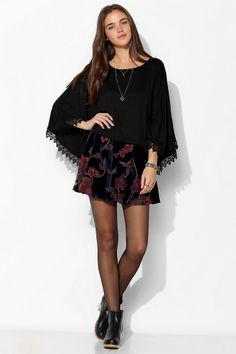 Staring At Stars Crochet-Trim Poncho Top #urbanoutfitters