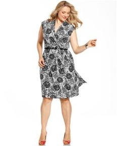 Just got this, love it!  Charter Club Plus Size Dress, Sleeveless Printed Belted - Plus Size Dresses - Plus Sizes - Macy's