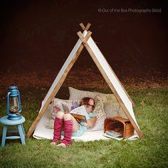 Children A Frame Play Reading Tent and door TheLittleYellowBarn, $120.00
