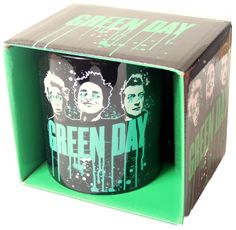 40218871bc60 Official Green Day boxed ceramic mug featuring the Paint Drip Logo design  Rock Off Bravado Officially Licnesd Merchandise See all Green Day Band
