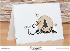 In Birgit´s Weihnachtskarten-Werkstatt {Teil Christmas Tree Cards, Stampin Up Christmas, All Things Christmas, Christmas Holidays, Christmas Crafts, Xmas, Scrapbooking, Scrapbook Cards, Stampin Up Weihnachten