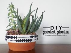 DIY: Painted Planter | allonsykimberly.com